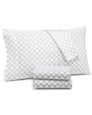 Shop Charter Club Damask Designs Arabesque Geo 4 Pc Queen Sheet Set 550 Thread Count Supima Cotton Created For Macy S Bedding