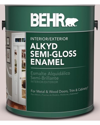 BEHR 1 gal. #N130-1 Pearls and Lace Urethane Alkyd Semi-Gloss Enamel Interior/Exterior Paint