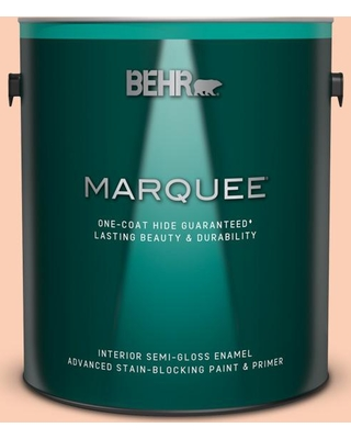 BEHR MARQUEE 1 gal. #230A-3 Apricot Lily Semi-Gloss Enamel Interior Paint & Primer