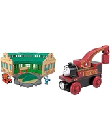 Multi Color /& mas /& Friends Wood Fisher-Price Thomas /& Friends Wood Tidmouth Sheds Bridge Track Pack