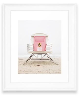 Deny Designs Pink Tower Art Print, Size 8X10 - Pink