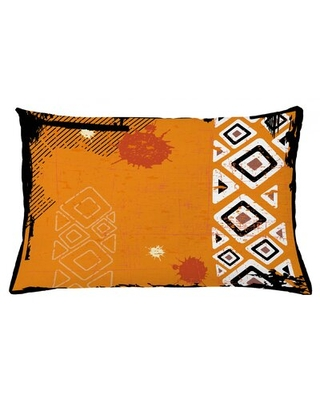 "Tribal Indoor / Outdoor Lumbar Pillow Cover East Urban Home Size: 16"" x 26"""