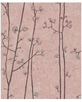 """World Menagerie Hanson Baby Plum Branches 33' L x 21"""" W Textured Wallpaper Roll X111334234 Color: Light Pink"""