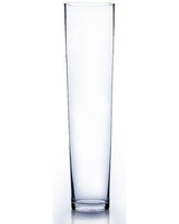 "WGVInternational Tapered Down Cylinder Glass Vase VTC0 Size: 19"" H x 5"" W x 5"" D"