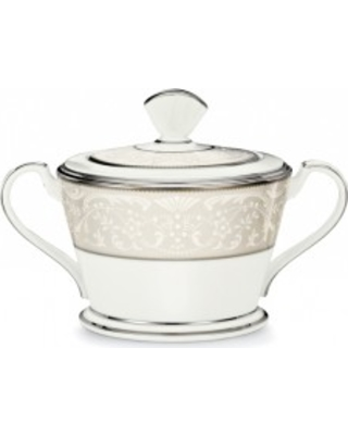 Noritake Silver Palace Sugar with Cover, 12 oz.