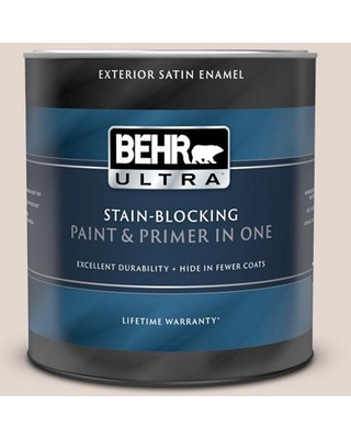BEHR ULTRA 1 qt. #770A-2 Kangaroo Tan Satin Enamel Exterior Paint and Primer in One