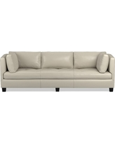 """Wilshire Sofa 96"""", Down Blend Cushion, Italian Distressed Leather, Ivory"""