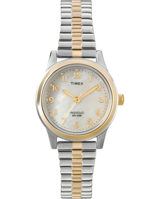 5a19d04bd Women's Timex Expansion Band Watch - Two Tone/Mother of Pearl T2M828JT,  Silver