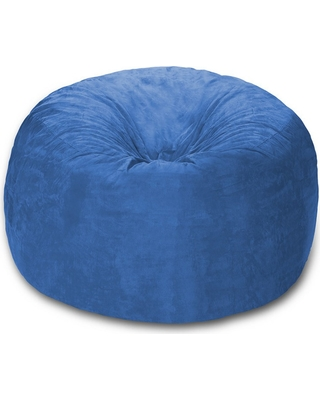 amazing deal on 4 ft microsuede sack royal blue relax sack