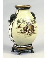 AA Importing Monkey Riding Elephant Vase 10276