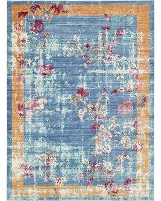 Can T Miss Bargains On Bungalow Rose Glenys Orientalarea Rug Polyester In Blue Size Rectangle 7 X 9 10 Wayfair Bnrs1258 34474144