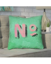 "Brayden Studio Enciso Graphic Indoor Wall Throw Pillow BYST5104 Size: 18"" x 18"", Color: Green/Pink"