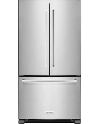 KitchenAid 20 cu. ft. French Door Refrigerator in Stainless Steel (Silver), Counter Depth