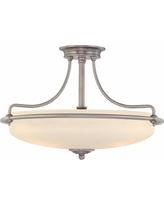 """Griffin Collection Antique Nickel 21"""" Wide Ceiling Light"""
