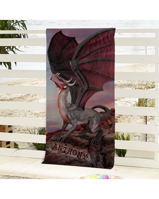 Personalized Dragons Beach Towel