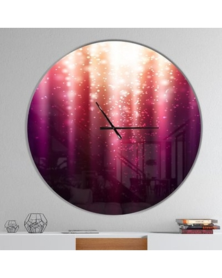 Magic Light Wall Clock East Urban Home Size: Large