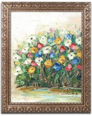 """Red Barrel Studio Spring Flowers in a Vase 10 Framed Painting Print RDBS4738 Size: 20"""" H x 16"""" W x 0.5"""" D"""