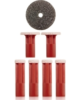 Pmd Red Coarse Replacement Discs, Size One Size - Red