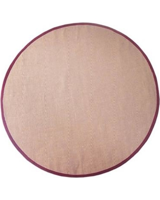 Acura Rugs Sisal Natural/Red Rug Sisal Red-RO Rug Size: Round 6'