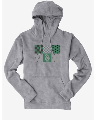Harry Potter Slytherin Checkered Patterns Hoodie