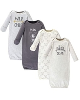 Luvable Friends Baby Boy Gowns, 4-Pack