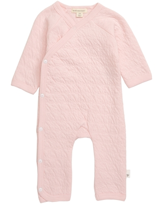 Infant Girl's Burt's Bees Quilted Organic Cotton Romper, Size Newborn - Pink