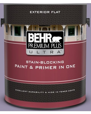 BEHR ULTRA 1 gal. #650F-4 Delectable Flat Exterior Paint and Primer in One