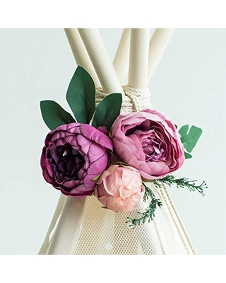 Garland with Flowers, Teepee Topper, Floral Garland, Peonies Garland, Flower Garland, Boho Garland, Wedding Garland, Floral Nursery, Violet