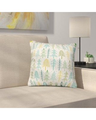 "East Urban Home Heather Dutton Oh Christmas Tree Frost Throw Pillow EUHG2488 Size: 18"" x 18"""