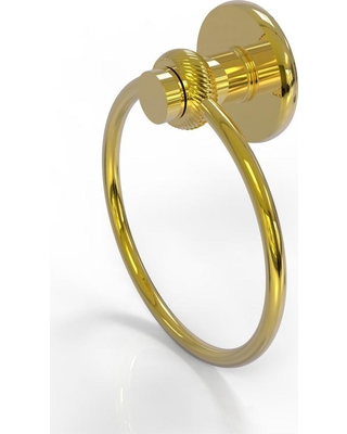 Allied Brass Mercury Collection Towel Ring with Twist Accent in Polished Brass