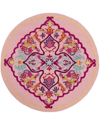 Here S A Great Deal On Safavieh Bellagio Pink Multi 5 Ft X 5 Ft Round Area Rug