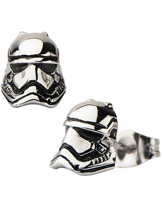 Star Wars Stainless Steel Storm Trooper 3D Stud Earrings, One Size , No Color Family