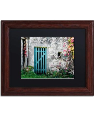 "Trademark Art 'The Old Wooden Door' by Philippe Sainte-Laudy Framed Photographic Print PSL0455-W1114BMF / PSL0455-W1620BMF Size: 11"" H x 14"" W x 0.5"" D"