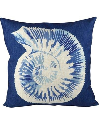 Find Savings On Pal Fabric Sea Snail Throw Pillow Polyester Polyfill Cotton Blend Polyester Polyester Blend In Blue White Size 18x18 Wayfair Pcw036