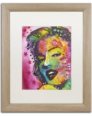"Trademark Art '17' Framed Painting Print on Canvas ALI1410-T1114MF / ALI1410-T1620MF Size: 20"" H x 16"" W x 0.5"" D"