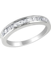 3/4 CT. T.W. Created White Sapphire Eternity Ring - Silver, Size: 5.0