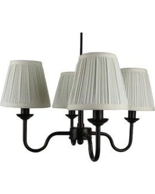 Charlton Home® Zilla 4 - Light Shaded Classic / Traditional Chandelier X111606944 Finish: Oil-rubbed Bronze