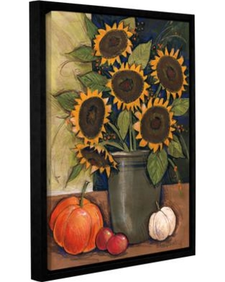 """August Grove Sunflower Crock Framed Painting Print on Wrapped Canvas BUHS7785 Size: 24"""" H x 18"""" W x 2"""" D"""