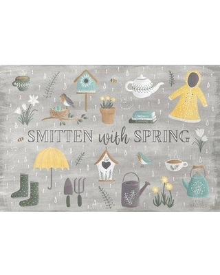 """East Urban Home 'Smitten with Spring III' Graphic Art Print on Wrapped Canvas ERNI2839 Size: 8"""" H x 12"""" W x 0.75"""" D"""