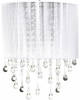 """Avenue Beverly Dr. 14"""" High White Silk String Wall Sconce"""