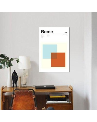 "East Urban Home 'Rome' Graphic Art Print on Canvas ESUH5688 Size: 18"" H x 12"" W x 0.75"" D"
