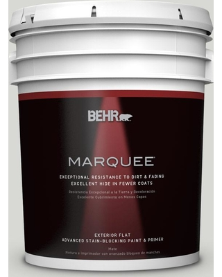 BEHR MARQUEE 5 gal. #T17-01 Close Knit Matte Exterior Paint and Primer in One