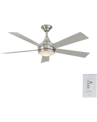 Huge deal on home decorators collection hanlon 52 in integrated led home decorators collection hanlon 52 in integrated led indooroutdoor stainless steel ceiling fan aloadofball Image collections