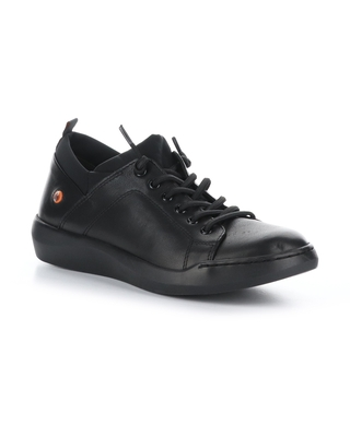 Softinos by Fly London Bonn Sneaker, Size 5.5Us in 000 Black Smooth Leather at Nordstrom