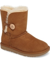 Toddler Girl's Ugg Bailey Button Ii Water Resistant Genuine Shearling Boot, Size 7 M - Brown