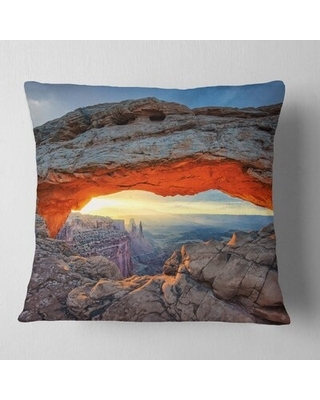 Huge Deal On Sunrise At Mesa Arch Pillow East Urban Home Size 16 X 16 Product Type Throw Pillow