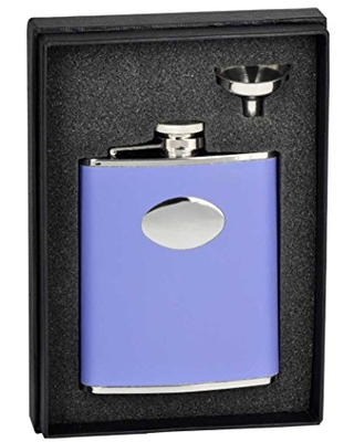 Great Prices For Visol Holiday Essential Blossom Lavender Leather Liquor Flask Gift Set 6 Oz Silver