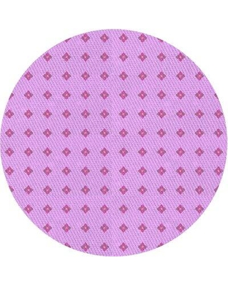East Urban Home Wool Pink Area Rug X113648606 Rug Size: Round 5'
