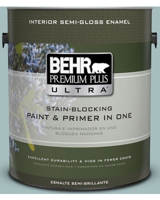 Spectacular Deals On Behr Ultra 1 Gal Ppu13 13 Oslo Blue Extra Durable Semi Gloss Enamel Interior Paint Primer