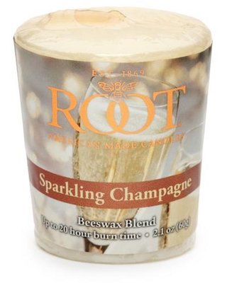 ROOT CANDLES 20-Hour Sparkling Champagne Scented Votive Candle (Set of 18), Ivory